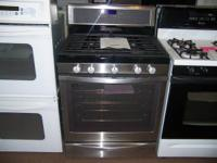 Free standing assortment. 4 secured burners. 5.8 cu.