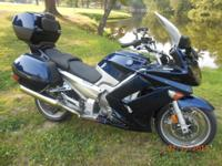 2012 Yamaha FJR, 14,520 miles. Options include a new