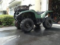 This is my 2012 yamaha grizzly 550 available for sale.