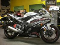 2012 Yamaha R6 in white with graphics. Bike is in like