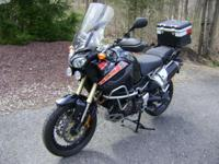 Black 2012 Yamaha Super Tenere XTZ1200 with 3,983