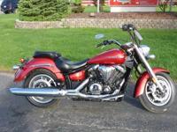 2012 Yamaha V-Star 1300 Motorcycle, 1 odometer mileage,
