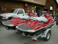 Pair of 2012 Yamaha VX1100 Deluxe Waverunners for $7950
