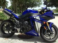 2012 Yamaha YZF R1 with traction control in showroom
