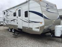 2012 Zinger ZT26BH 26 Foot Travel Trailer Front Queen