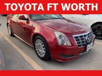 Red 2012 Cadillac CTS RWD 6-Speed Automatic 3.0L V6