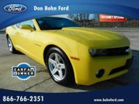 Don Bohn Ford presents this 2012 CHEVROLET CAMARO 2DR