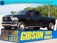 WWW.GIBSONTRUCKWORLD.COM*2012 Dodge Ram 3500 ST W/Power