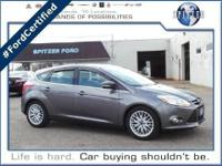 Focus SEL, Ford Certified, 4D Hatchback, and Charcoal