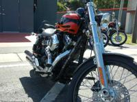 Select the flames on the Harley-Davidson Wide Glide