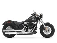 The Harley-Davidson Slim rides with