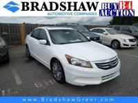 Recent Arrival! White Orchid Pearl 2012 Honda Accord