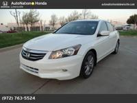 This 2012 Honda Accord Sdn EX-L is offered to you for