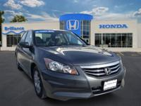 Honda Certified, One Owner Accord LX-P. This vehicle
