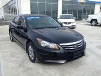 Honda Certified, One Owner Accord SE. This car looks,