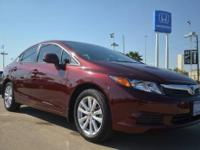 2012 Honda Civic EX preowned red sedan for sale in