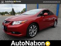 This exceptional example of a 2012 Honda Civic Cpe Si
