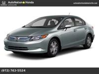 This 2012 Honda Civic Hybrid is provided to you for