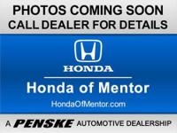 SUNROOF, AUTOMATIC, CARFAX 1-Owner, Honda Certified,