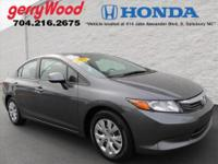 ONE OWNER AND FULLY SERVICED AT GERRY WOOD HONDA!!FULL