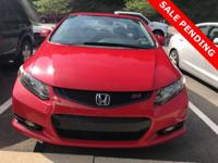 2012 Honda Civic Si Rallye Red Civic Si, 2D Coupe, 2.4L