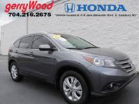 ONE OWNER AND FULLY SERVICED AT GERRY WOOD HONDA!!