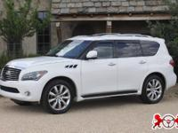 White 2012 Infiniti QX56 which only 59979 miles on it.