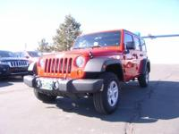 Certified 4X4 Jeep Wrangler Unlimited 4D Sport Suv. V6