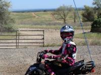 2012 Kandi 110cc custom sports quad with green sticker,