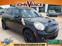 Countryman trim. FUEL EFFICIENT 35 MPG Hwy/27 MPG City!