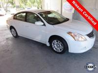 2012 Nissan Altima 2.5 S ** Winter Frost Pearl with