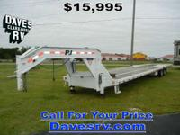 2012 PJ Trailers LY402 GOOSENECK FLATBED TRAILER