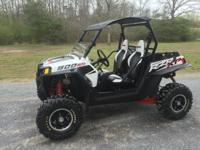 2012 Polaris rzr 900 XP white lightning edition. This