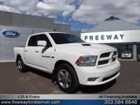 Bright White Clearcoat 2012 Ram 1500 Sport 4WD 6-Speed