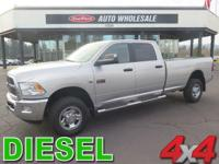 From work to weekends, this Silver 2012 Ram 3500 SLT