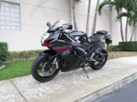 This is a gorgeous 2012 Suzuki GSXR 600. This bike is