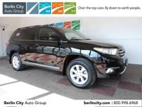 Factory Certified 2012 TOYOTA HIGHLANDER SE 4WD,one