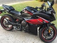 Great Bike!!! Raven (Black & Red) 1651 Miles, Lowered,
