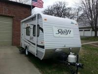 2013 Jay Flight Swift Travel Trailer - white - 16'. SO