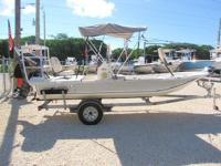 This 2013 Carolina Skiff 17' JV Series is powered by a