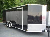 "6x14SA Cargo Trailer with V-Nose, 3/8"" plywood walls,"