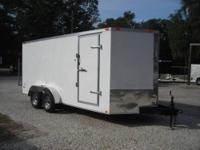 I have a 2013 7' x 18' White,V-nose enclosed trailer -