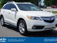 RDX trim, White Diamond Pearl exterior and Parchment