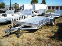 NEW 2013 Aluma 8112 ATV trailer. This all aluminum deck