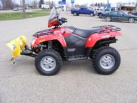 This 4-Wheeler comes with a snow plow. Only has 60