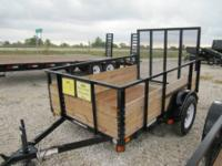 "6'x12' enclosed trailer, 3500 lb axle, 36"" side door,"