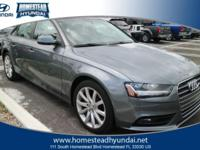 This 2013 Audi A4 4dr Sdn CVT FrontTrak 2.0T Premium is