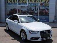 Ibis White 2013 Audi A4 Premium Plus quattro 8-Speed