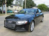 2013 Audi A4 2.0T Premium Plus Black Carfax One-Owner.