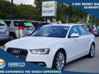 2013 Audi A4 2.0T Prestige in White, *Carfax Accident
